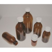 Round Capped Glass Medicine Bottle 60ml